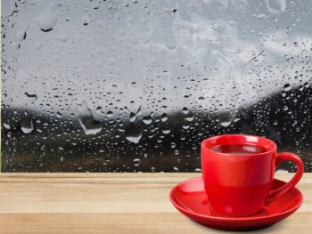 Condensation inside the glass of a window
