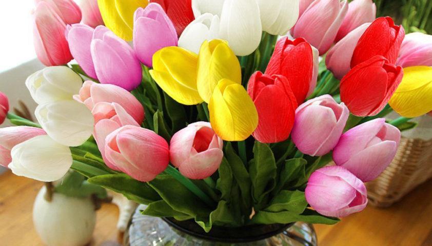 Artificial Tulips on Amazon