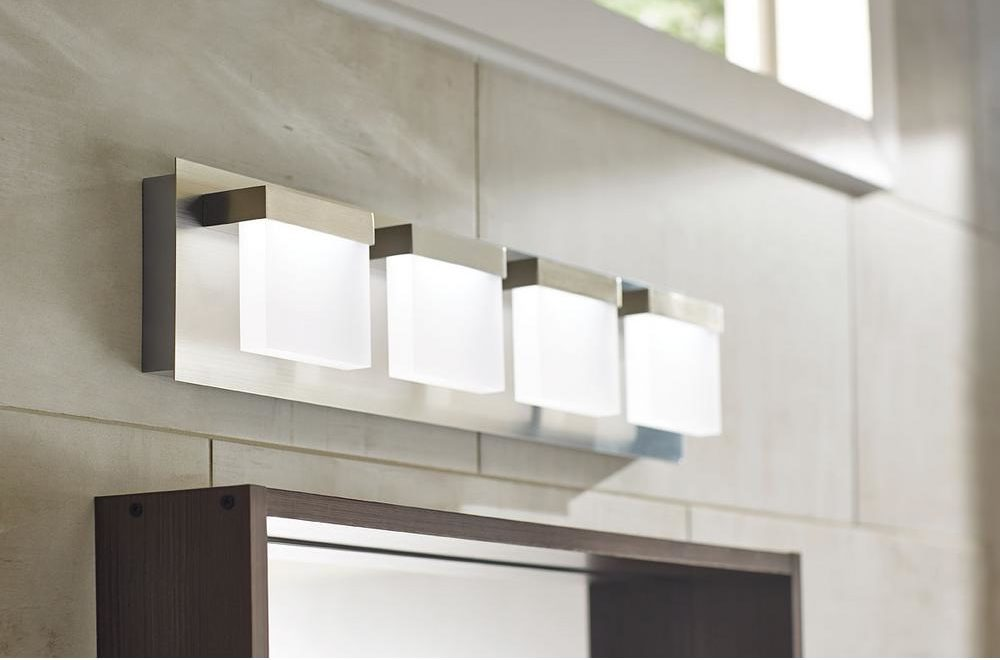 Integrated Led Light Fixtures, How To Change Led Bulb In Bathroom Mirror