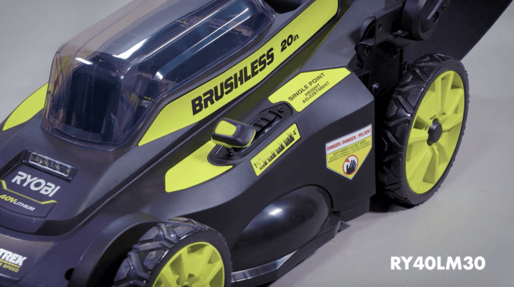 RYOBI mower brushless design