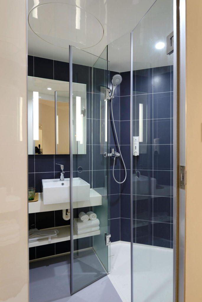 Clear, clean shower doors