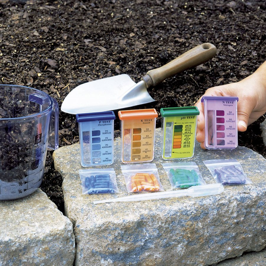 Garden soil test kit