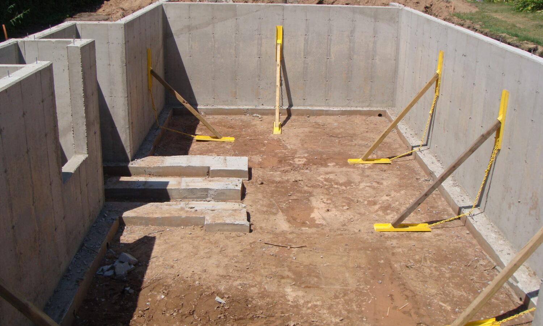 New home concrete foundation