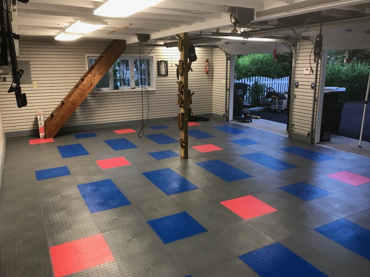 New tile garage floor