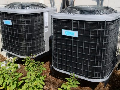 Central air conditioning outside compressor