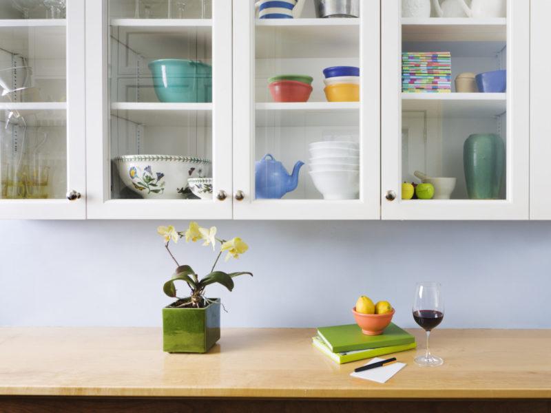 Butcher block kitchen countertop