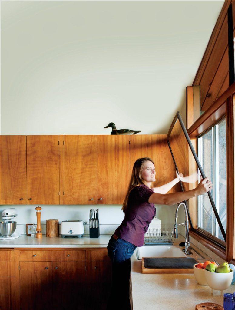 Installing window insert to kitchen window