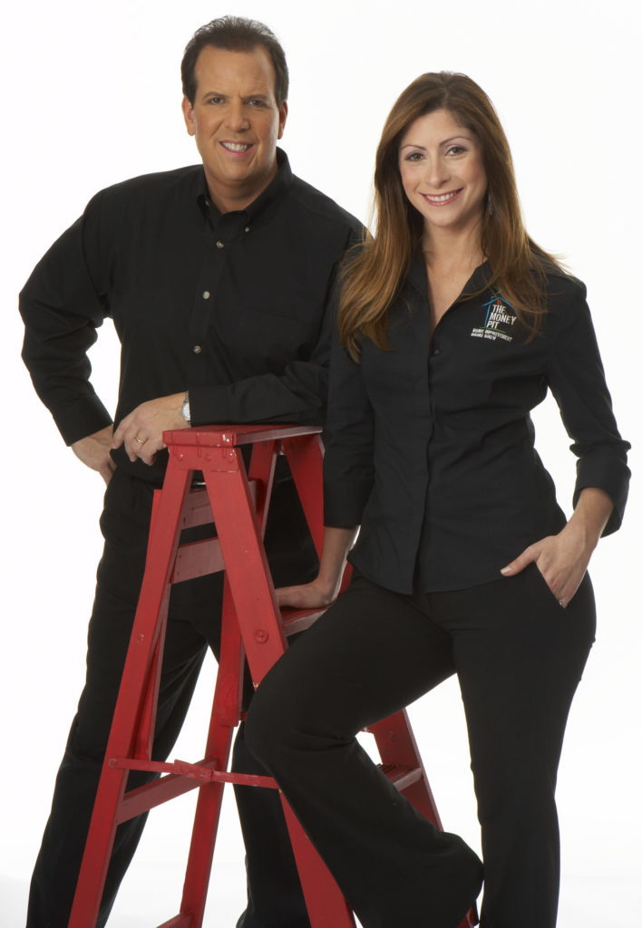Tom Kraeutler and Leslie Segrete with ladder
