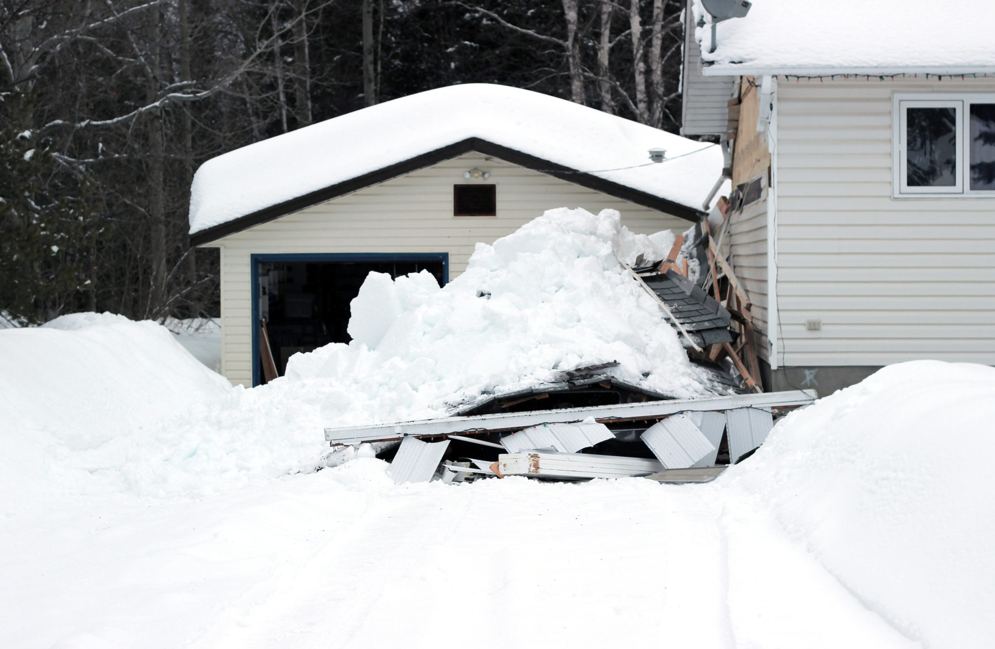 Collapsed roof a common winter hazzard