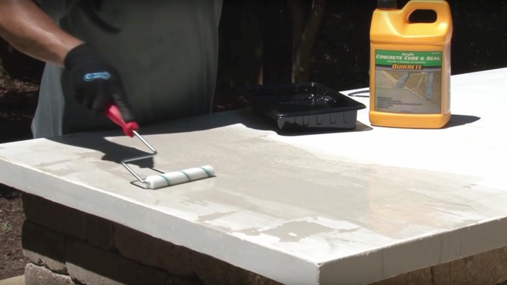 Sealing a concrete countertop