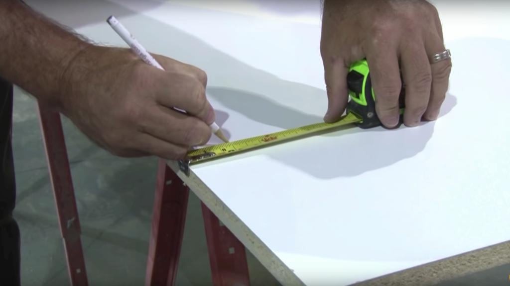 Measuring a concrete countertop