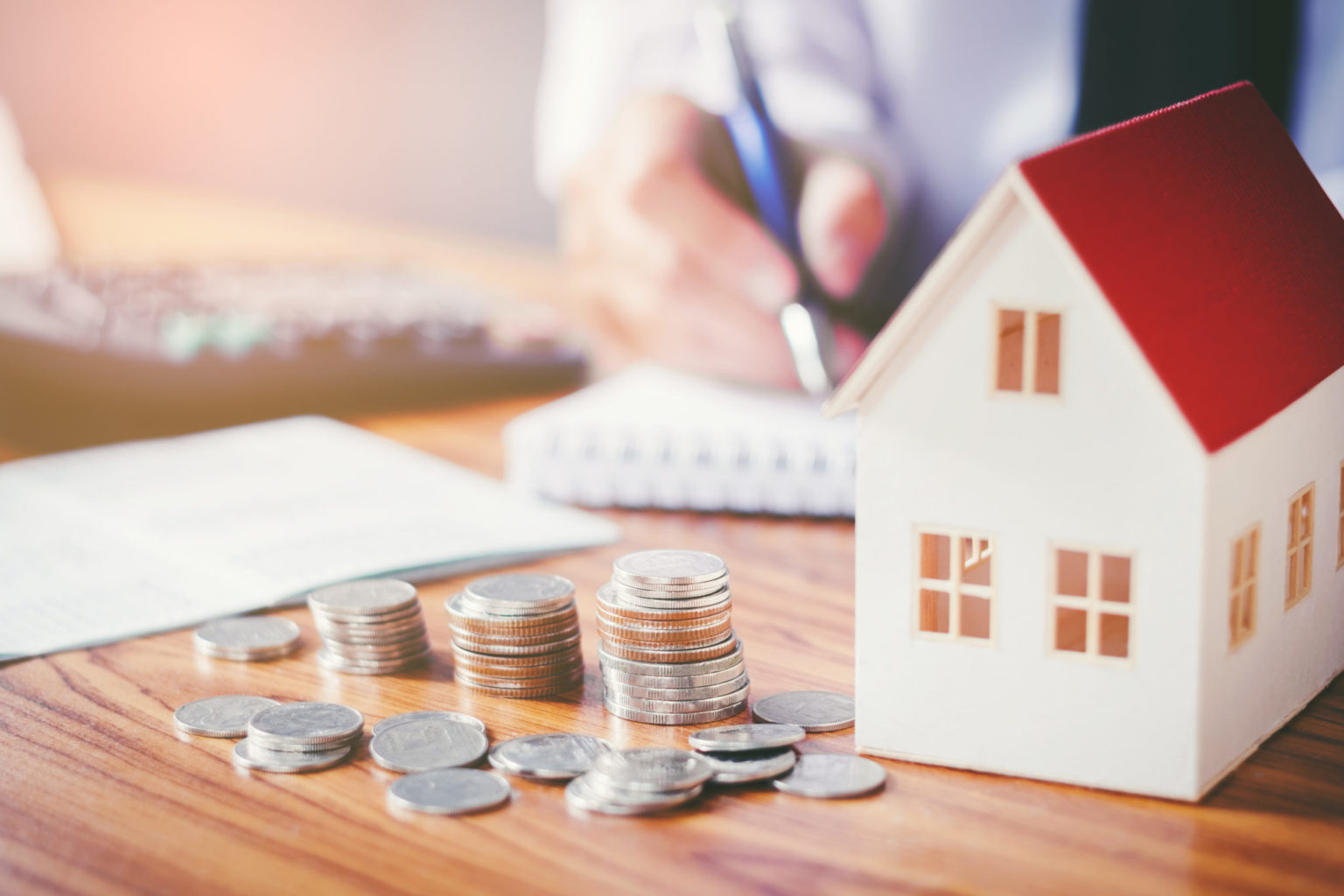 Man budgeting to buy a new home