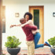 Couple happy about buying a home