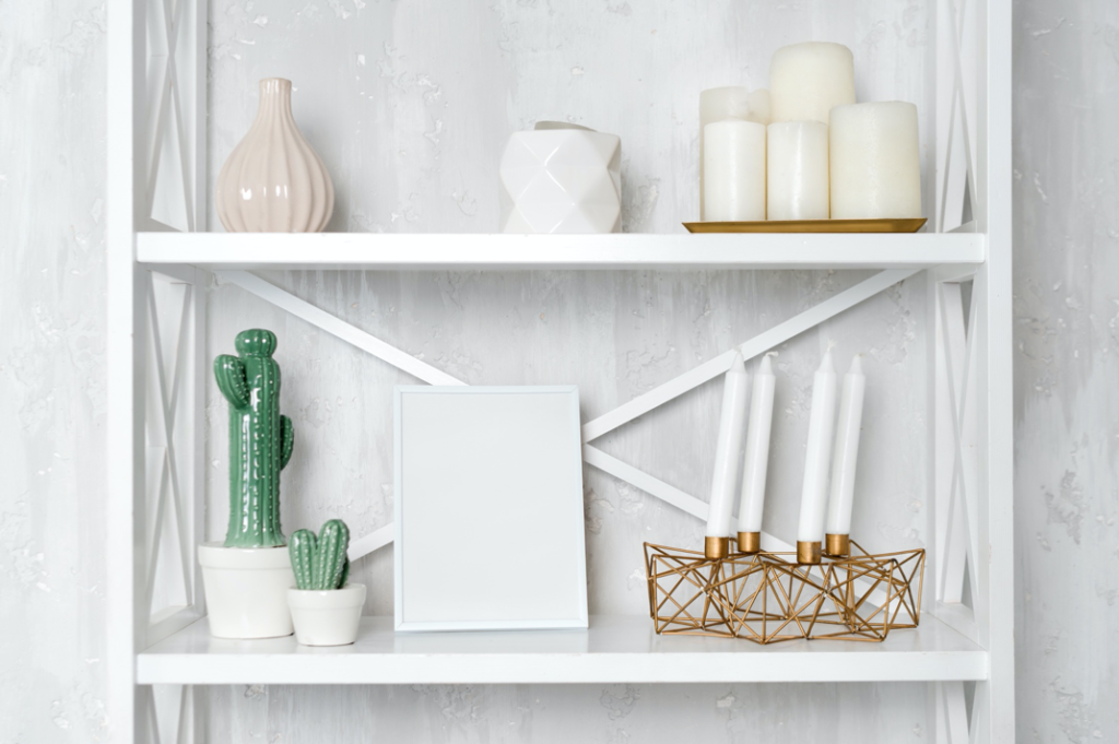Shelf with Decor Gift Items