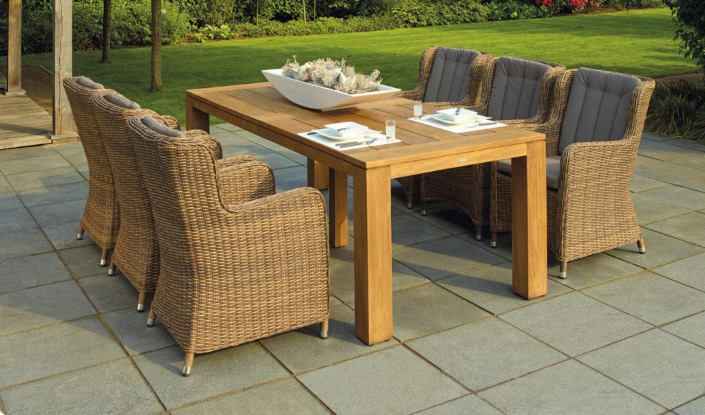 Outside patio dining table and chairs