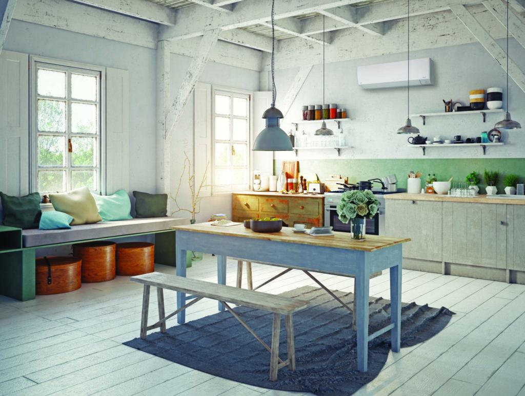 Farmhouse style kitchen interior
