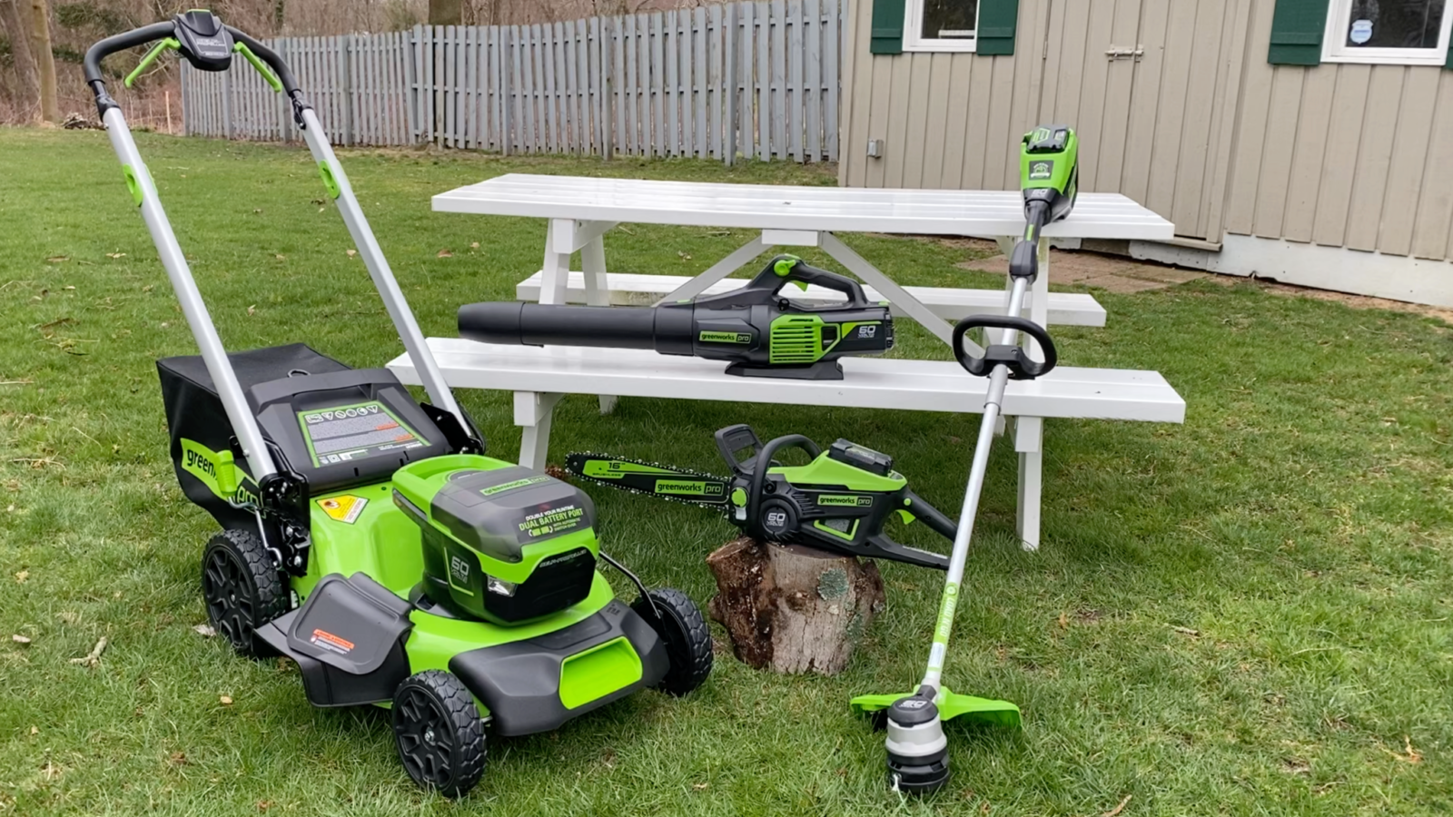 Greenworks 60 Cordless Lawn Products