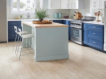 Low maintenance kitchen floor.