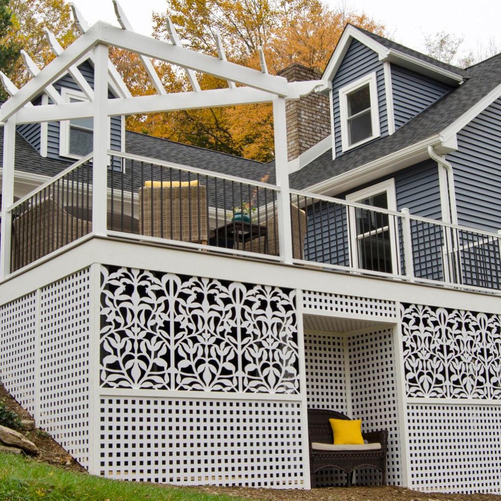 Trex lattice on wood deck
