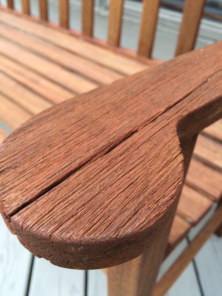 Old cracked wood furniture