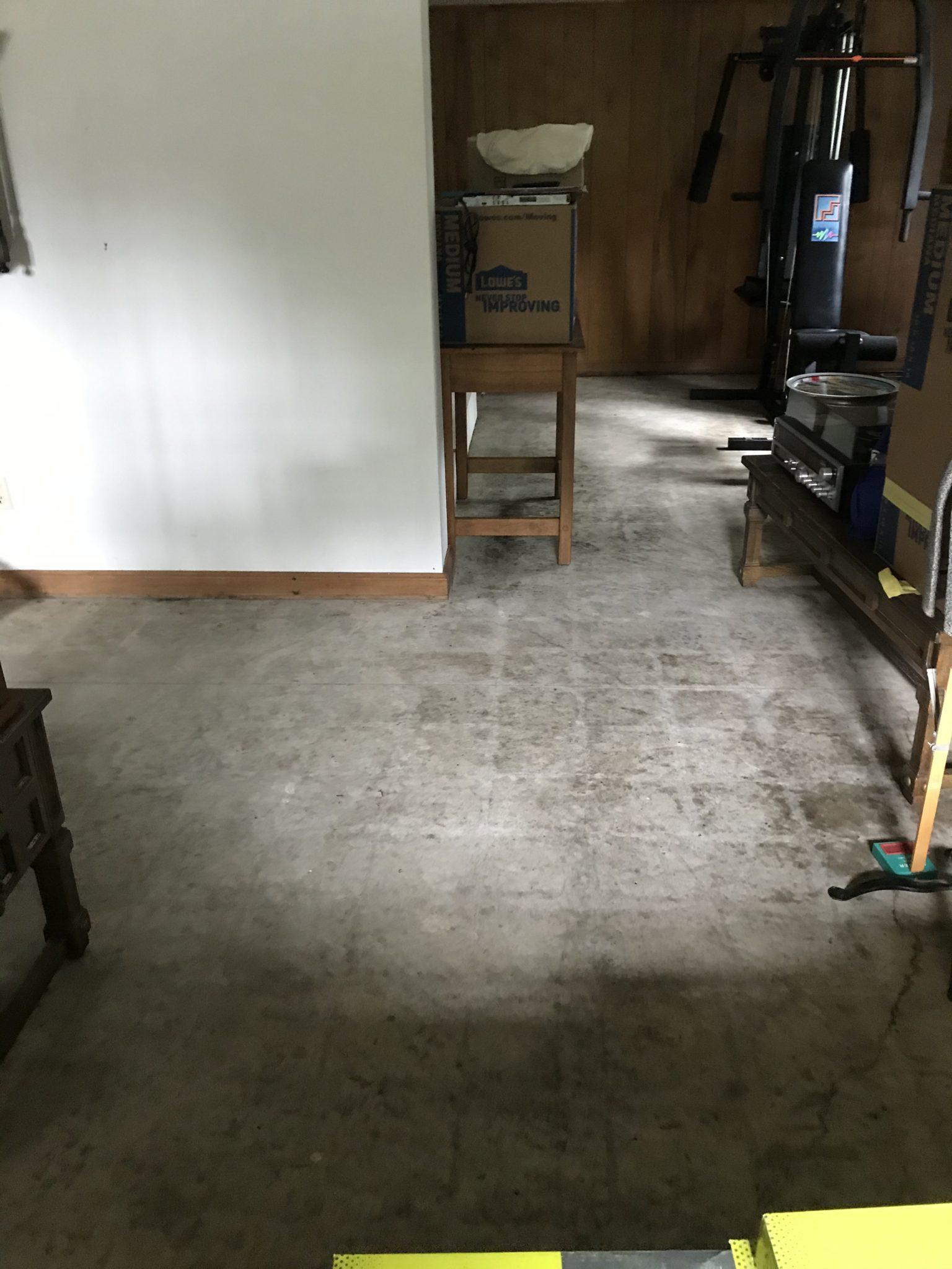 basement family room floor
