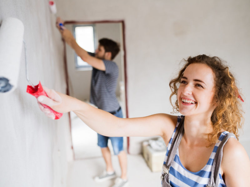 Painting up a home