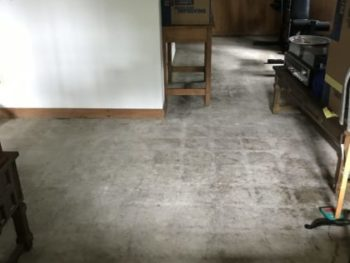 Basement family room floor
