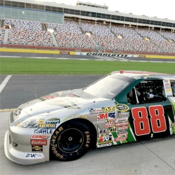 NASCAR on track