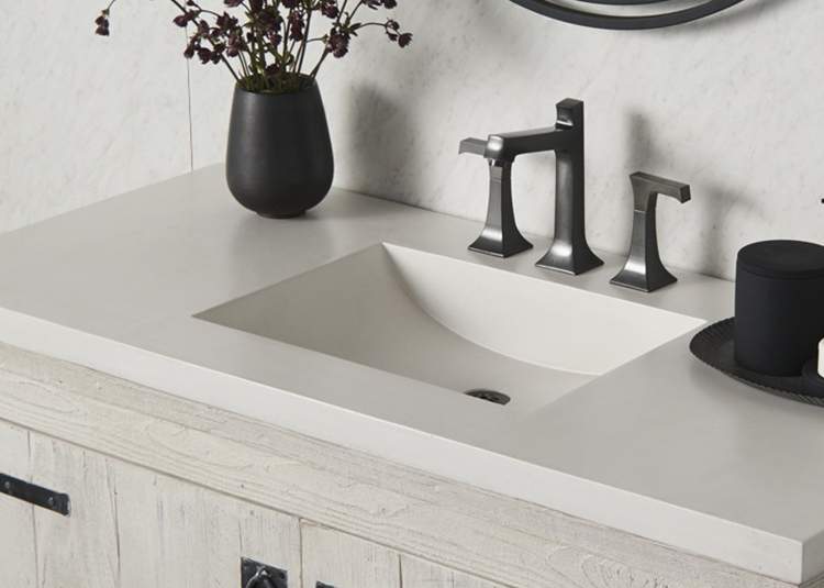 Vanity sink and faucet from Riverbend Home