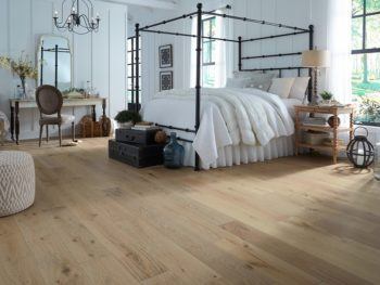 Bedroom floor featuring LL Flooring Virginia Mill Works Whispering Wheat Oak Engineered Hardwood Flooring