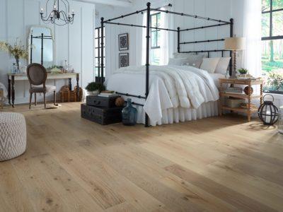 Bedroom floor featuring LL Flooring Virginia Mill Works Whispering Wheat Oak Engineered Hardwood Flooring