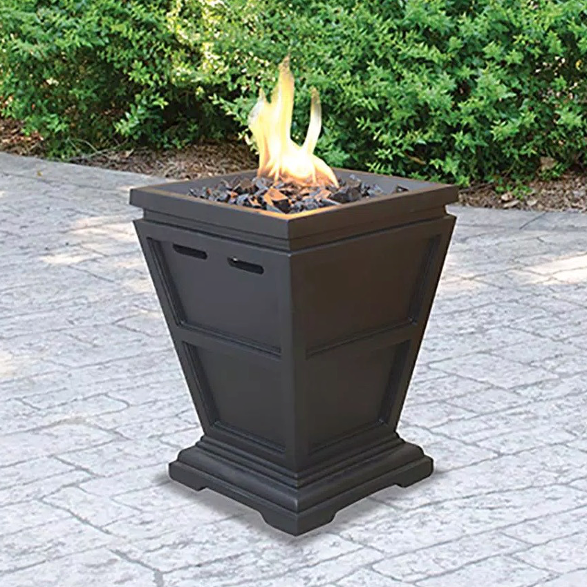 11 in. W x 11 in. D Tabletop LP Gas Fire Pit with Electronic Ignition and Lava Rocks Lifestyle