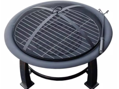 AZ Patio Heaters 30 in. Wood Burning Firepit in Black