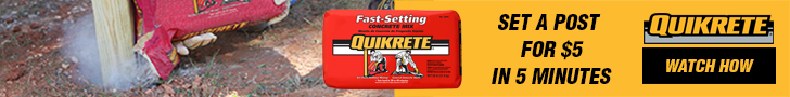 Quikrete Concrete Mix in the Red Bag
