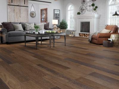 Living area hardwood floor