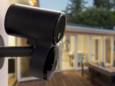 Ourdoor wire-free Deep Sentinel camera protecting rear of home