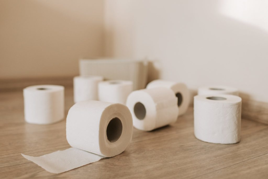 Toilet Paper in bathroom