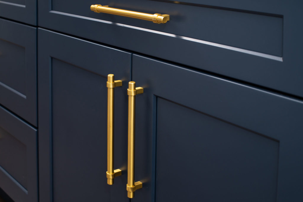 New kitchen cabinet brass door handles