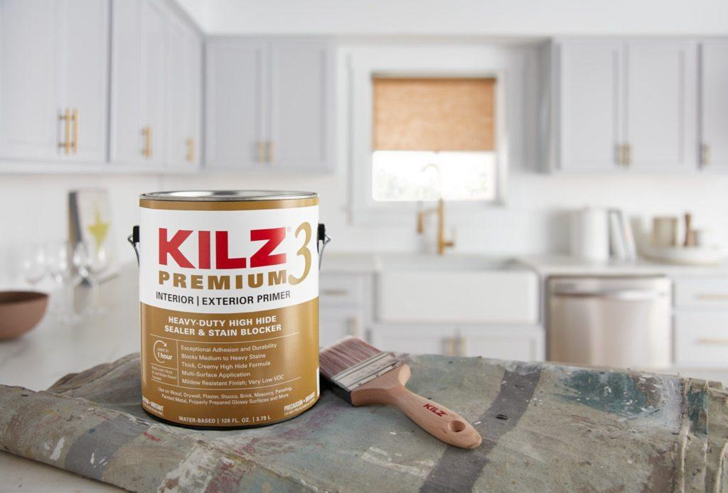 KILZ3 PREMIUM Primer for Kitchen Cabinet Refinishing