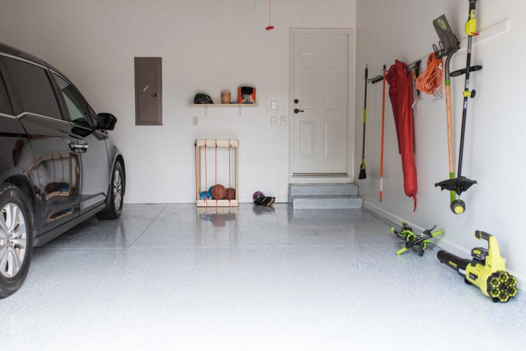 After application of DaiHard 100 Epoxy Garage Floor Kit