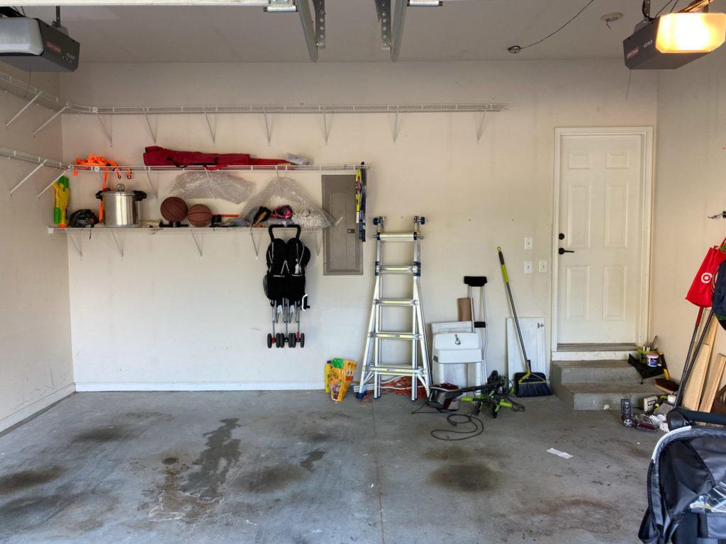 Before application of DaiHard 100 Epoxy Garage Floor Kit