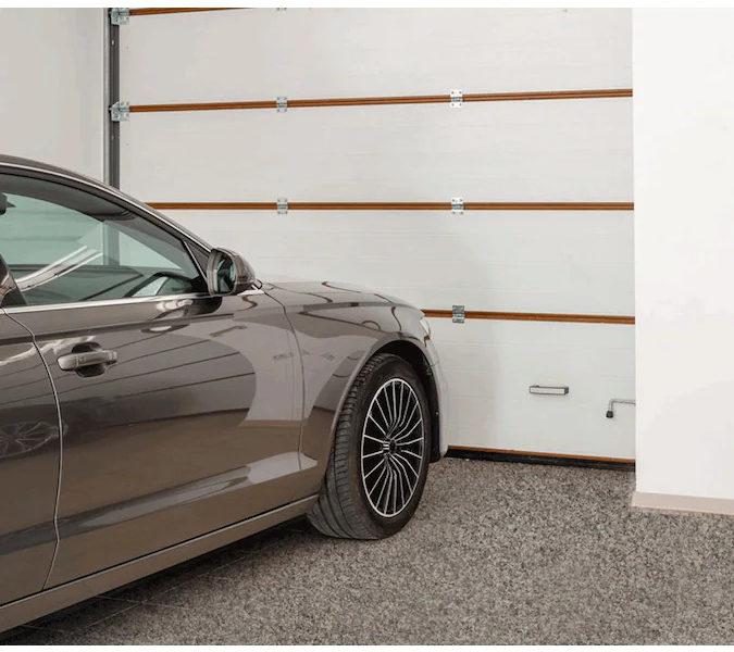 Terrazzo coating on garage floor
