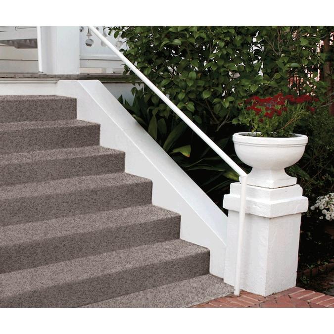 Terrazzo coating on steps